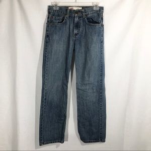 LEVI'S 550 Relaxed Denim Blue Jeans Size 16 Slim